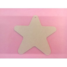 4mm MDF Star Rounded Ends 150mm